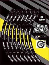 """Dcor Rim Decals 19"""" Suzuki Rear Logo Suzuki RM-Z250/RM-Z450/RM250/RM125"""