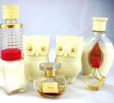 Avon Perfume Bottles 7 VTG   Heres My Heart Dew Kiss Topaz 2 Owls