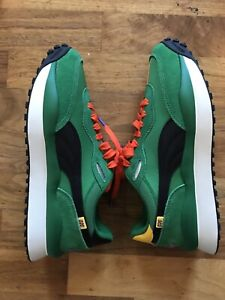 PUMA STYLE RIDER OG Green Uk 8 Rare New Size? Exclusive Rare Clyde Play Suede