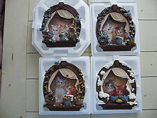 New  3D  Kitty  Cat  set of The 4 Seasons  Bradford Exchange  collector  plates