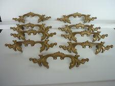 Fancy Ornate pull Drawer Lot of 9 handles Provencal français lot 9 poignées