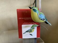 2020 Hallmark Beauty Of Birds LADY BLACK-THROATED BLUE WARBLER PRESALE LIMITED!!