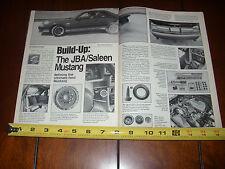 1987 SALEEN JBA MUSTANG - ORIGINAL ARTICLE