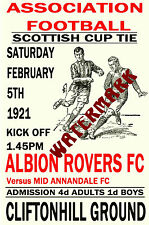 ALBION ROVERS - VINTAGE 1920's STYLE MATCH AFFICHE