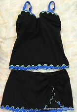 Profile By Gottex 2 pc. Swimsuit Bathingsuit Tankini Top & Skirt  Womens Sz M?