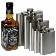 1 4 5 6 7  8 9  10 18oz Hip Flask Stainless Steel Pocket Drink Whisky Flasks