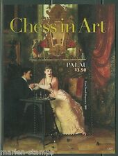 PALAU 2014 CHESS  IN ART  SOUVENIR SHEET  MINT NEVER HINGED