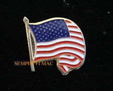 USA WAVE FLAG LAPEL HAT PIN US MARINES NAVY ARMY AIR FORCE USCG RED WHITE BLUE