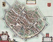 Reproduction plan ancien de Tournai (Doornik) 1649