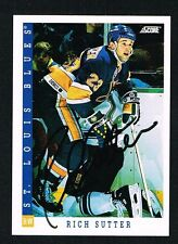 Rich Sutter #323 signed autograph auto 1993-94 Score Hockey Trading Card