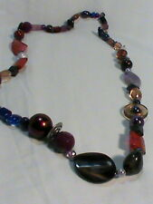 beads plastic, glass and stone Chunky Single Strand Necklace of assorted
