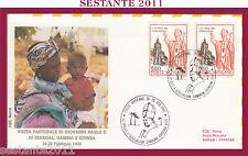 W62 VATICANO FDC ROMA VISITA GIOVANNI PAOLO II AFRICA SENEGAL GAMBIA GUINEA 1992