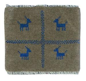"Oriental Hand Knotted Traditional Tribal Wool Smoky Area Rug Handmade 1'3""x1'3"""