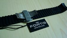 Fortis Black Rubber band for B-42 & Marine Master includes Titanium Clasp