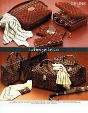 PUBLICITE ADVERTISING 0217  1978   Boutique cadeaux Celine sacs  bagages paraplu