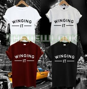 WINGING IT T SHIRT FASHION WING MAN WOMAN GIRL QUOTE HIPSTER  TUMBLR SWAG DOPE