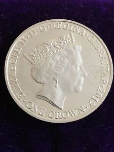 2017 Gibraltar Lest We Forget One Crown Coin