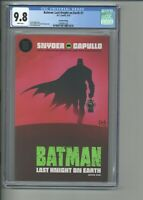 Batman Last Knight on Earth #1 CGC 9.8 2nd Second Printing Cover Edition Capullo