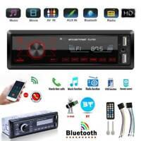 Single 1DIN Car Stereo MP3 Player In Dash BT AUX-in USB FM Radio Audio Head Unit