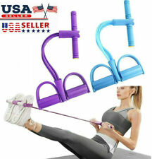 4-Tube Foot Pedal Resistance Band Pull Rope Fitness Yoga Exercise Gym Home