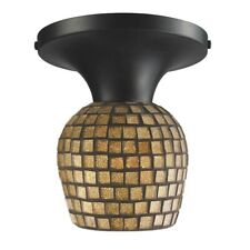 ELK Lighting Celina 1-Light Semi Flush, Dark Rust/Gold Mosaic - 10152-1DR-GLD