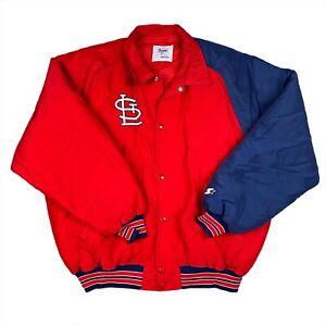Vintage 80s 90s St. Louis Cardinals Starter Diamond Collection Jacket Size XL