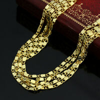 """1PC 16-30"""" Jewelry 18K Yellow Gold Filled Link Flat Chain Necklace For Pendant"""