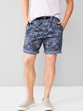 "Gap Men's Hiker Print Shorts (8.5"") - Baja Blue Floral Print NWOT size Large"