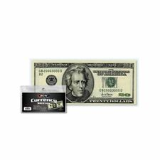 100 US Currency Paper Money Bill Protector Sleeves for Regular Bills BCW