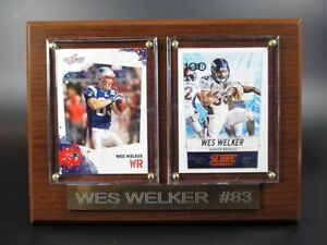 Wes Welker Broncos Patriots Wood Wall Picture 7 7/8in, Plaque NFL Football