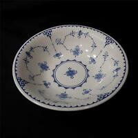 """Vintage Furnivals Blue Denmark 6 1/4"""" Cereal Soup Bowl Made In England Excellent"""