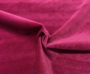 "BALLARD DESIGNS QUEENS VELVET MAGENTA PINK SOLID CUSHION FABRIC BY THE YARD 54""W"