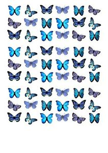 54X BEAUTIFUL BUTTERFLY BIRTHDAY EDIBLE WAFER PAPER, CUPCAKE, CAKE TOPPERS 1013