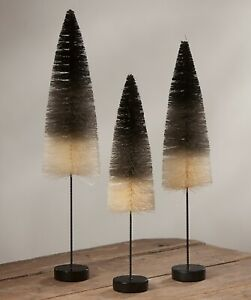 Bethany Lowe Set Of 3 Different Black And White Ombre Trees SN7399 New