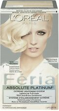 L'Oreal Paris Feria Absolute Extreme Lightening System, Very Platinum 1 ea