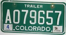 COLORADO licence/number plate US/United States/USA/American AO79657