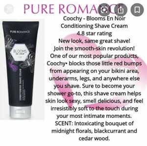 Pure Romance BLOOMS en Noir Coochy Conditioning Shave Cream Sealed Z