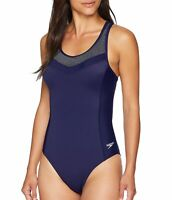 Speedo Women's Swimwear Blue Size 4 One Piece Endurance Swimsuit $78 #939