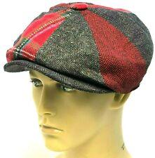 Peaky Blinders Hat Newsboy Gatsby Cap Herringbone Tartan Tweed Baker Boy 25%Wool