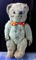 Antique Vintage Chad Valley Teddy Bear C.1950s Wool. Glass Eyes. Old British