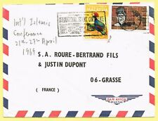 1969 cover with mixed franking 75c rate tied KL slogan canc. to France.