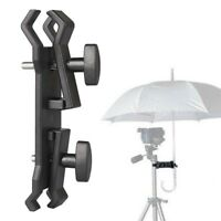 Photography Camera Lighting Umbrella Holder Clamp Clip for Tripod Light Stand PM