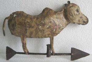 VINTAGE OLD IRON COW WEATHER VANE . COW WEATHERVANE