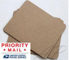 Wholesale 600 Blank Hair Clip Display Card in Brown Kraft Paper no hanging Hole