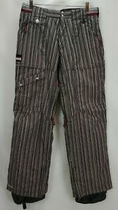 Section Snowboard Ski Pants Youth Size Large Brown Stripe Waterproof Snow Winter