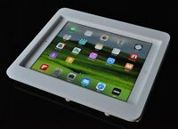 iPad 2 3 4 VESA Security Enclosure White Acrylic for POS, Kiosk, Store Display