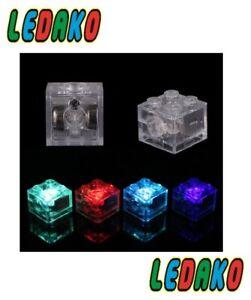 LED Leuchtstein 2x2  transparent RGB abwechselnd leuchtend  by ledako