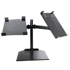 Novopro Adjustable Universal CDJ Dual Table Stand With Twin Arm (Black)