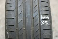 1 SINGLE CONTINENTAL CONTISPORTCONTACT 5 225 45 R18 W TYRE *4MM NO REPAIRS*
