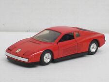 Ferrari Testarossa in rot, innen schwarz, o.OVP, MC Toy, 1:39, Pullback-Funktion